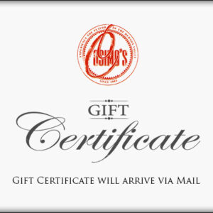 This is only a placeholder, your actual Gift Certificate will be MAILED to the address you provide during checkout